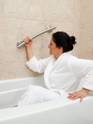 Grabcessories Curved Grab Bar Professional Installation Available