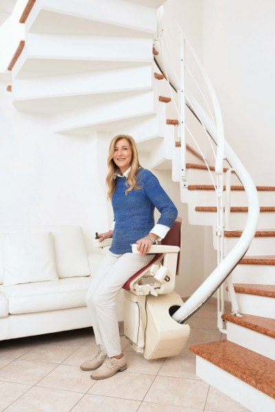 Handicare Freecurve Curved Stair Lift Available Installed throughout SE Wisconsin