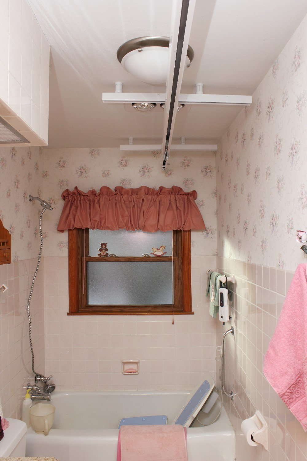 Accessible Bathroom Ceiling Lift Track Installed by BILD in Delafield