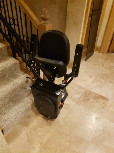 Custom Curved Stairlift Installed by BILD in Milwaukee